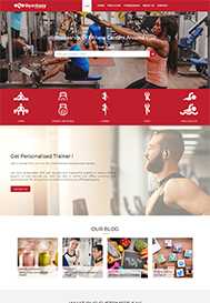 gym website created by impressbss web design company in chennai